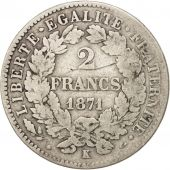 Gouvernement de Défense nationale, 2 Francs Cérès, 1871 K, Bordeaux, Gadoury 530
