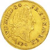 Louis XIV, 1/2 Louis d'or aux 4 L, 1694 A, Paris, Gadoury 240