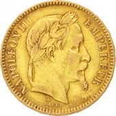 Second Empire, 20 Francs or Napoléon III tête laurée, 1864 grand BB, Strasbourg, Gadoury 1062