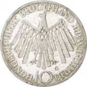 GERMANY - FEDERAL REPUBLIC, 10 Mark, 1972, Karlsruhe, KM:130, MS(63), Silver