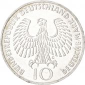 GERMANY - FEDERAL REPUBLIC, 10 Mark, 1972, Karlsruhe, KM:135, MS(63), Silver