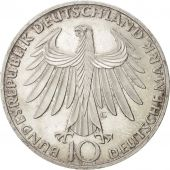 GERMANY - FEDERAL REPUBLIC, 10 Mark, 1972, Karlsruhe, KM:132, MS(63), Silver