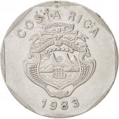 Costa Rica, 10 Colones, 1983, KM:215.1, SUP, Stainless Steel