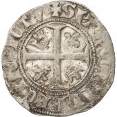 FRANCE, Charles VI, Blanc guénar, Toulouse, EF(40-45), Billon, Duplessy:377A