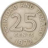 TRINIDAD & TOBAGO, 25 Cents, 1972, Franklin Mint, EF(40-45), Copper-nickel, KM:4