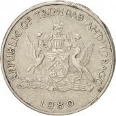 TRINIDAD & TOBAGO, 25 Cents, 1980, EF(40-45), Copper-nickel, KM:32