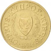 Chypre, 10 Cents, 1991, TTB+, Nickel-brass, KM:56.3