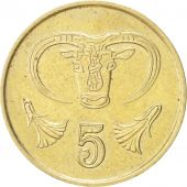 Chypre, 5 Cents, 1987, SUP, Nickel-brass, KM:55.2