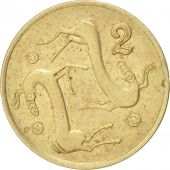 Chypre, 2 Cents, 1985, TTB+, Nickel-brass, KM:54.2