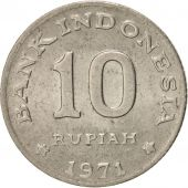 Indonesia, 10 Rupiah, 1971, AU(50-53), Copper-nickel, KM:33