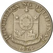 Philippines, 10 Sentimos, 1974, TTB, Copper-nickel, KM:198
