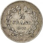 France, Louis-Philippe, 1/4 Franc, 1844, Lille, EF(40-45), Silver, KM:740.13