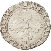 France, Henri III, Demi Franc, 1590, Toulouse, VF(20-25), Silver, Sombart:4716
