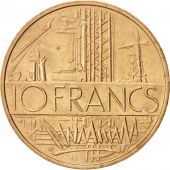 France, Mathieu, 10 Francs, 1976, SPL+, Nickel-brass, Tranche B, Gadoury:814