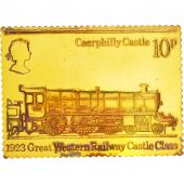 Great Britain, Railway stamp, Medal, AU(55-58), Vermeil, 40x30mm