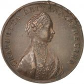 Great Britain, Charlotta Regina, Token, 1762, EF(40-45), Copper, 29mm
