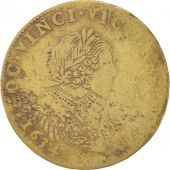 France, Royal, Louis XIII, Token, 1634, TTB, Brass, 28