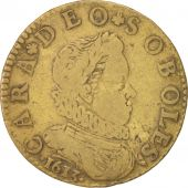 France, Royal, Louis XIII, Token, 1613, TTB, Brass, 27