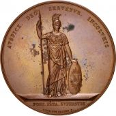 Netherlands, Utrecht 200th anniversary, Medal, 1836, AU(55-58), Copper, 54mm