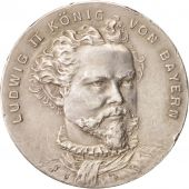 Germany, Ludwig II of Bayern, Medal, 1900, AU(55-58), Silver, 33mm