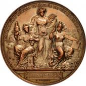 Italy, Trieste, Medal, 1882, AU(50-53), Bronze, 60mm