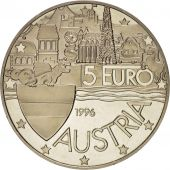 Austria, European coinage test, 5 euro, History, Medal, 1996, MS(63), Silver, 36