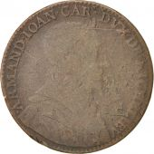 France, Royal, Cardinal de Richelieu, Token, 1635, TB+, Cuivre, 27
