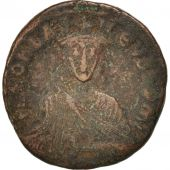 Leo VI the Wise 886-912, Follis, 886, Constantinople, TB, Cuivre, RIC:1443
