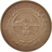 South Africa, Penny, 1898, AU(55-58), Bronze, KM:2