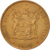 South Africa, 2 Cents, 1984, AU(55-58), Bronze, KM:83