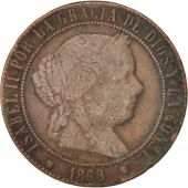Espagne, Isabel II, 5 Centimos, 1868, , TB, Cuivre, KM:635.1