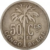 Congo belge, 50 Centimes, 1925, Non Applicable, TB+, Copper-nickel, KM:22