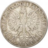 Pologne, 10 Zlotych, 1932, Warsaw, TTB+, Argent, KM:22