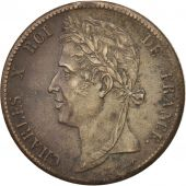 FRENCH COLONIES, Charles X, 5 Centimes, 1829, Paris, AU(55-58), Bronze, KM:10.1