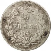 France, Louis-Philippe, 1/2 Franc, 1945, Lille, VF(20-25), Silver, KM:741.13