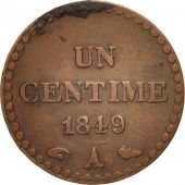 France, Dupré, Centime, 1849, Paris, TB+, Bronze, KM:754, Gadoury:84