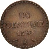 France, Dupré, Centime, 1850, Paris, AU(50-53), Bronze, KM:754, Gadoury:84