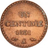 France, Dupré, Centime, 1851, Paris, AU(55-58), Bronze, KM:754, Gadoury:84