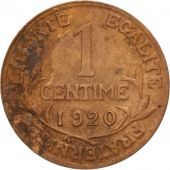 France, Dupuis, Centime, 1920, Paris, TB+, Bronze, KM:840, Gadoury:90