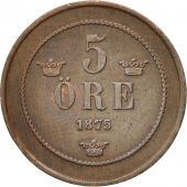 Norvège, 5 Öre, 1875, Royal Norwegian Mint, TTB+, Bronze, KM:349