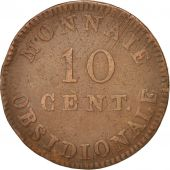 FRENCH STATES, ANTWERP, 10 Centimes, 1814, VF(30-35), Bronze