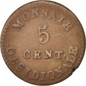 FRENCH STATES, ANTWERP, 5 Centimes, 1814, TB+, Bronze, KM:4.1