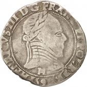 France, Demi Franc, 1590, Toulouse, VF(20-25), Silver, Sombart:4716