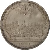 France, Medal, Ville de Reims, History, 1654, Molart, AU(55-58), Tin, 72