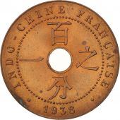 FRENCH INDO-CHINA, Cent, 1938, Paris, MS(60-62), Bronze, KM:12.1, Lecompte:99