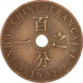 FRENCH INDO-CHINA, Cent, 1902, Paris, TTB, Bronze, KM:8, Lecompte:58