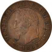 France, Centime, 1862, Paris, AU(50-53), Bronze, KM:795.1, Gadoury:87