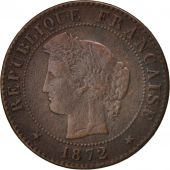 France, Cérès, Centime, 1872, Paris, VF(30-35), Bronze, KM:826.1, Gadoury:88