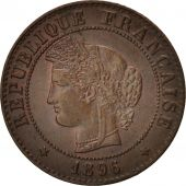 France, Cérès, Centime, 1896, Paris, TTB+, Bronze, KM:826.1, Gadoury:88