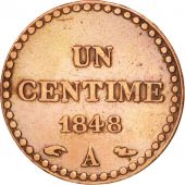 France, Dupré, Centime, 1848, Paris, TTB, Bronze, KM:754, Gadoury:84